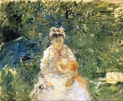 The Wet Nurse by Berthe Morisot