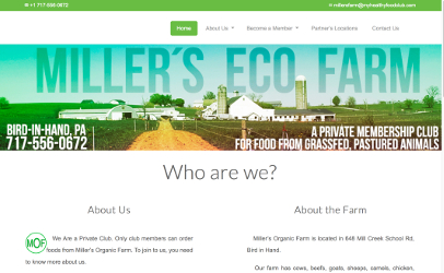 Miller's Farm home page