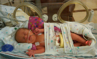 Born prematurely as a complication of her mother contracting an infection from fresh cantaloupe that was tainted with Listeria monocytogenes, Kendall required intensive medical treatment.