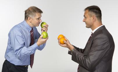 apples to oranges comparison