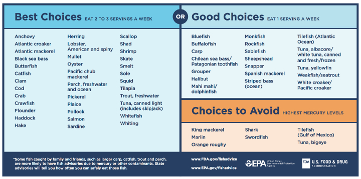 Something fishy fda 39 s final advice on when to eat which for Best type of fish to eat