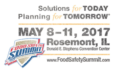 Food Safety Summit 2017 logo dates