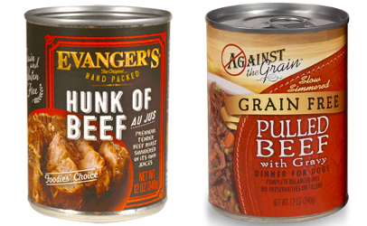 recalled Evangers and Against the Grain dog food