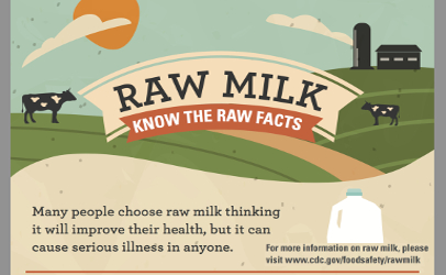 CDC raw milk facts illustration