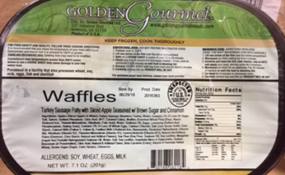 recalled Golden Gourmet frozen waffles