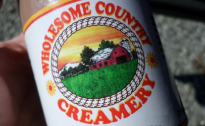 Wholesome Country Creamery label