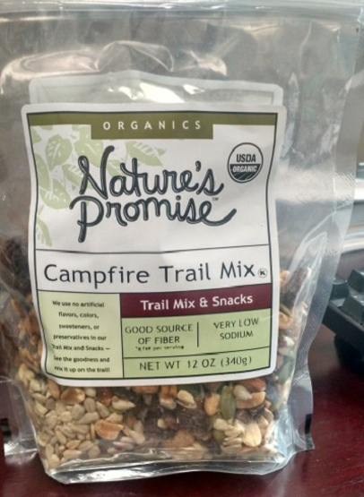 recalled Natures Promise trail mix
