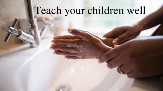 illustration teach your children handwashing