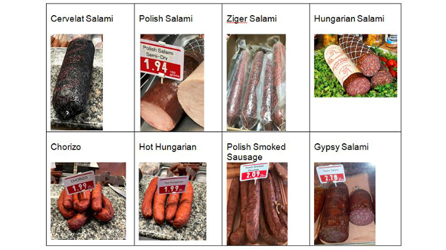 recalled Polonia brand sausages