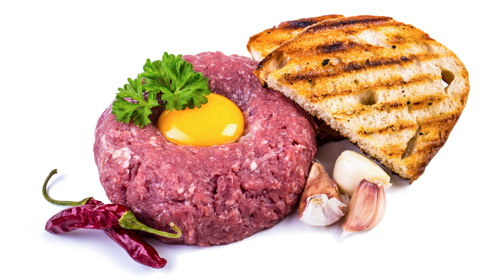 cannibal sandwich tiger meat steak tartare