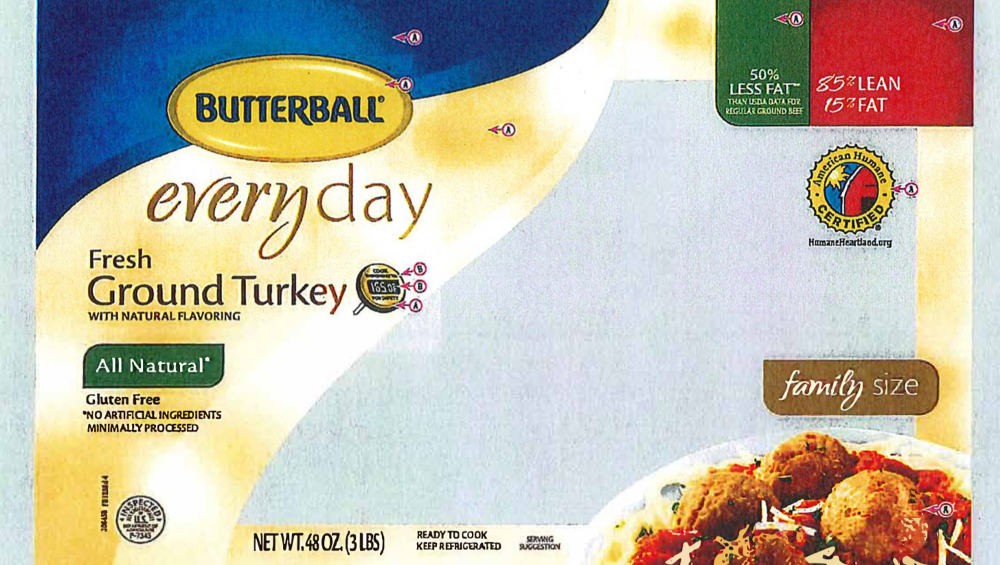 Butterball, Kroger, other brands of turkey recalled nationwide because of new multistate Salmonella outbreak - Food Safety News thumbnail