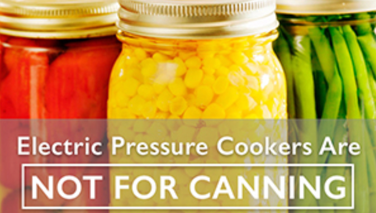 electric pressure cookers canning