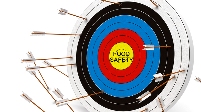 illustration food safety target bulls eye