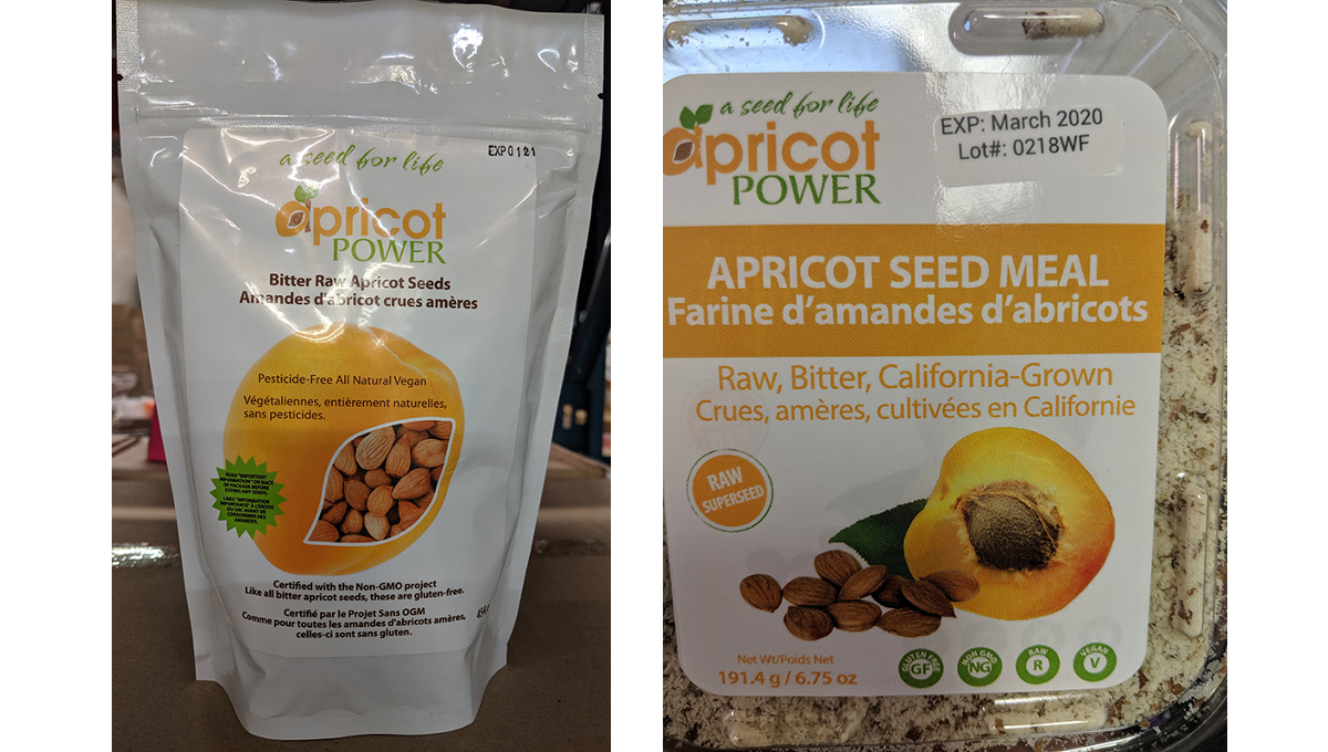 recalled apricot seeds meal