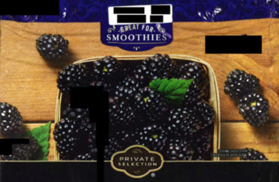 Frozen berries available at Fred Meyer