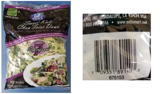 Eat Smart kale salad bags recalled due to possible listeria contamination