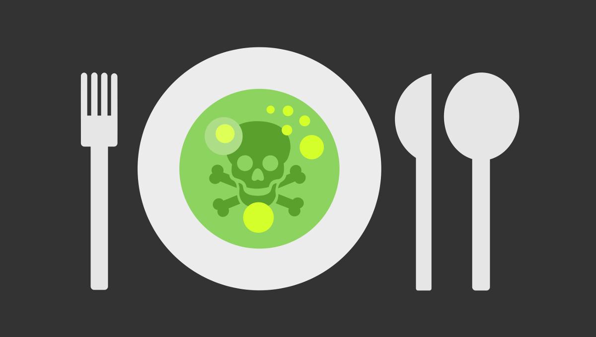 toxic food skull
