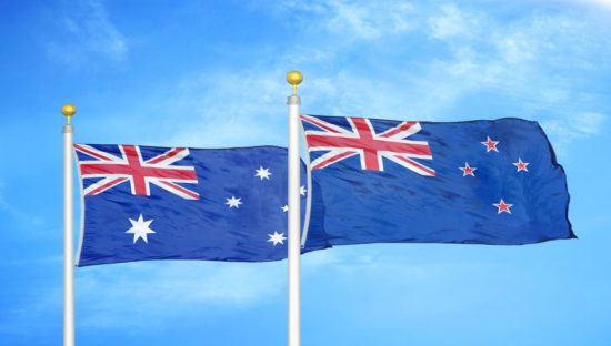 dreamstime_australia new zealand flags