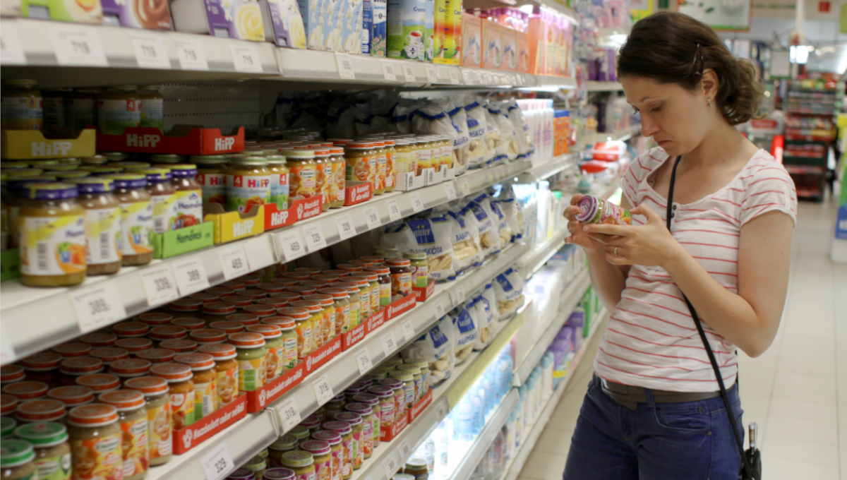 Baby food shopping