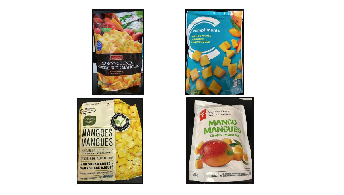 recalled frozen mangos CFIA