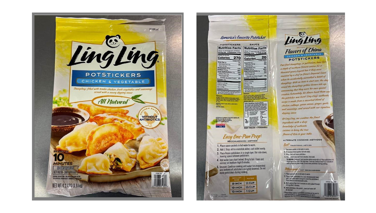 recalled Ling Ling potstickers